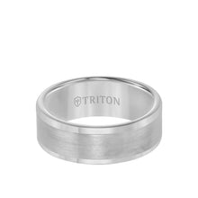 Load image into Gallery viewer, Triton 8mm Tungsten Band with Flat Brushed Center with Polished Edge