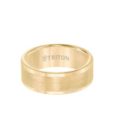 Triton 8mm Tungsten Band with Flat Brushed Center with Polished Edge
