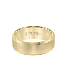 Load image into Gallery viewer, Triton Gold Plated Tungsten 8mm  Finish Center and Beveled Edge
