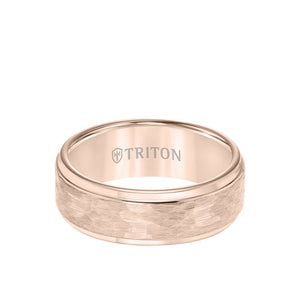 Triton Black Tungsten 8 mm hammer finish with step edge