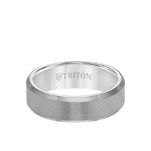 Load image into Gallery viewer, Triton Tungsten  7mm Ring Satin Finish with Polished Bevel Edge