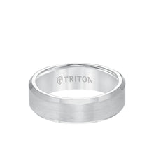 Load image into Gallery viewer, 7mm Tungsten Ring Satin Finish with Polished Bevel Edge