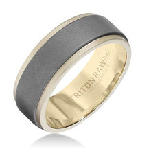 Load image into Gallery viewer, TRITON Tungsten 8mm Raw and 18K Gold Ring