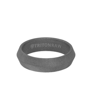 Triton 6mm Raw Tungsten Sandblast Matt Knife Edge