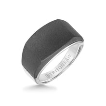 Load image into Gallery viewer, Triton 12mm Raw Tungsten Signet Ring