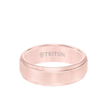 Load image into Gallery viewer, Triton Yellow Rose Plated Tungsten 7mm Step Edge