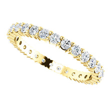 Load image into Gallery viewer, 14K Gold 2 mm Round Diamond Eternity Band
