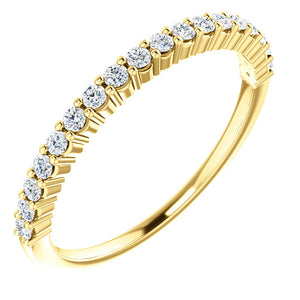 14K Gold 1/4 CTW Diamond Band