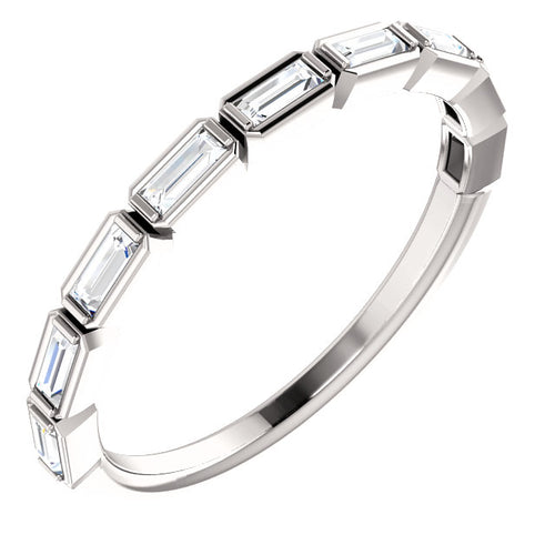 14K Gold 1/4 CTW Diamond Baugette Band