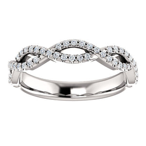 14K Gold 1/5 CTW Infinity Design Diamond Band