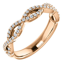 Load image into Gallery viewer, 14K Gold 1/5 CTW Infinity Design Diamond Band