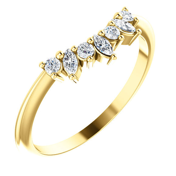 14K Gold 1/6 CTW Diamond Jacket Ring