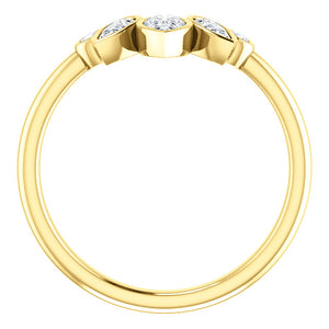 14K Gold 3/8 CTW Diamond Contoured Band