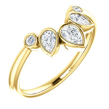 Load image into Gallery viewer, 14K Gold 3/8 CTW Diamond Contoured Band