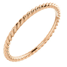 Load image into Gallery viewer, 14K Gold 1mm Decorative Rope Band