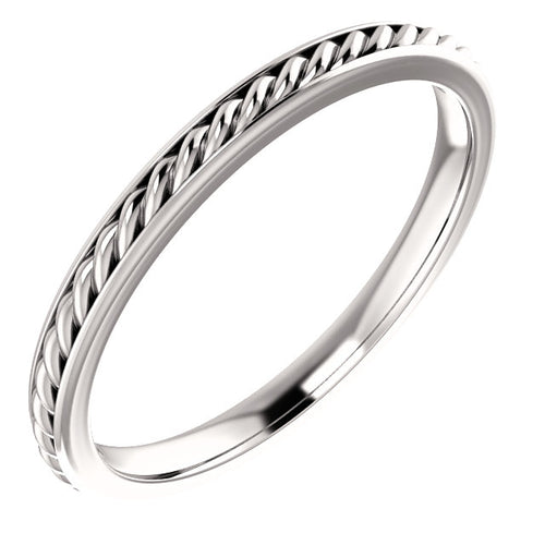 14k Gold Rope Wedding Band