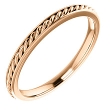 Load image into Gallery viewer, 14k Gold Rope Wedding Band