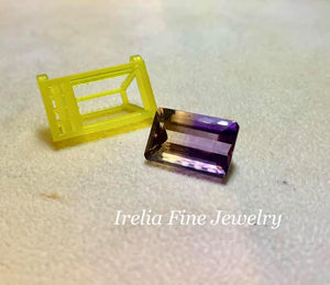CUSTOM JEWELRY SAMPLE: Redesign and Reset 11 carat Ametrine