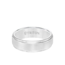 Load image into Gallery viewer, Triton Rose Gold Plated Tungsten 7mm Step Edge