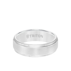 Triton Yellow Rose Plated Tungsten 7mm Step Edge