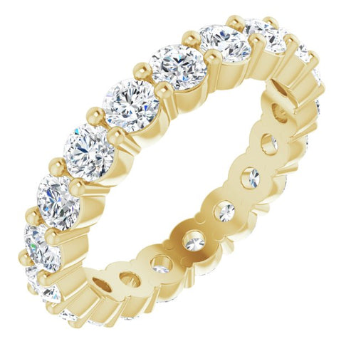 14K Gold 3 mm Round 1 3/4 carat Diamond Eternity Band