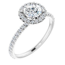 Load image into Gallery viewer, RING MOUNTING : 1/3 Carat Halo Engagement Ring, with diamond under gallery