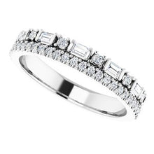 Load image into Gallery viewer, 14K White 1/2 CTW Diamond Double Stacked Band