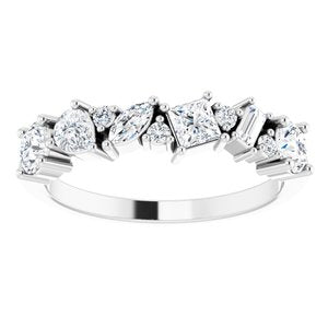 14K White 7/8 CTW Diamond Anniversary Band