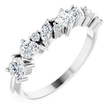 Load image into Gallery viewer, 14K White 7/8 CTW Diamond Anniversary Band