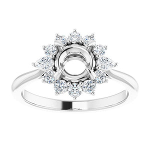 3/8 carat Diamond Cluster Halo Engagement Ring Mounting