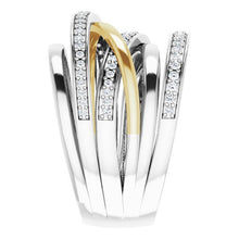Load image into Gallery viewer, 14K White/Yellow 1/2 CTW Diamond Ring
