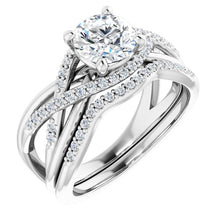 Load image into Gallery viewer, 1 CARAT MOUNTING : Over Lapping Diamond Engagement Ring