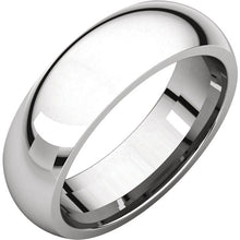 Load image into Gallery viewer, Platinum 6mm Wide Classic Wedding Comfort Fit