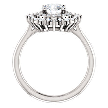 Load image into Gallery viewer, Round Diamond Engagement Ring with Moroccan Diamond Halo