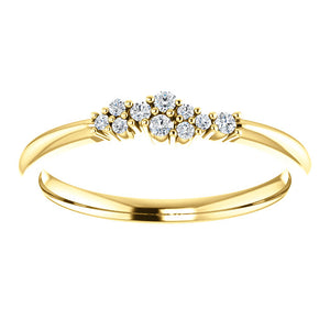 14K Gold 1/10 CTW Diamond Stackable Cluster Ring