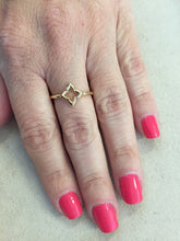 Load image into Gallery viewer, Dainty 14K Yellow Gold Clover Stackable Ring
