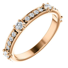 Load image into Gallery viewer, 14K Gold 1/4 CTW Diamond Anniversary Band