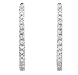 3 carat Diamond Hoop earring , inside out hoop earring , hoops with diamond , San Diego Diamond Hoops , Irelia Fine Jewelry