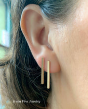 Load image into Gallery viewer, 14K Gold Bars Earrings