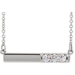 1/5 Carat Diamond Bar Pendant