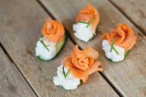 Smoked Salmon & Cucumber Bite - krunch platters
