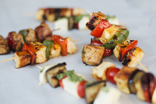 Halloumi Skewers With a Sweet Chilli Sauce | Skewer Platters - krunch platters