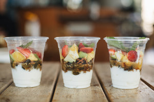 GF Fruit Salad With Muesli & Yoghurt - krunch platters