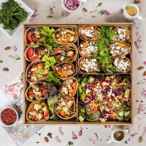 Assorted Vegan Wraps - krunch platters
