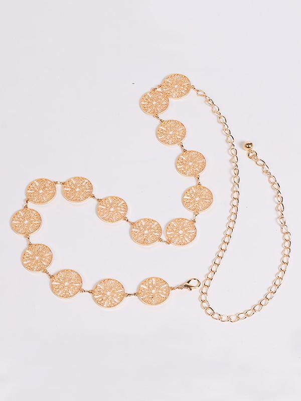 Pretty Hollow Circle Waist Chain Accessories