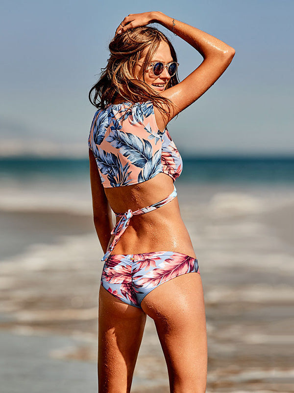 Wrap Leaves Bikini Swimsuit