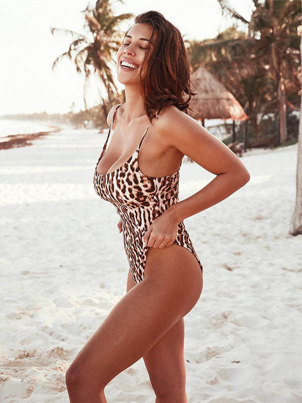Leopard Bohemia Sexy One-piece Swimwear