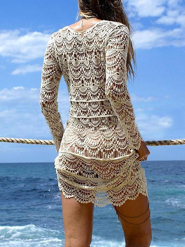 Knitting Hollow Bikini Cover-up Swimwear
