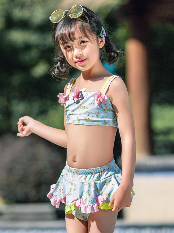 AONIHUA Floral Lovely Girl Two Piece Swimwear