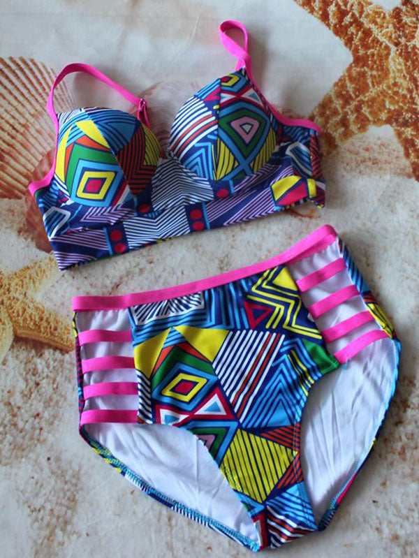 High Waisted Plus Size Bikinis Swimwear